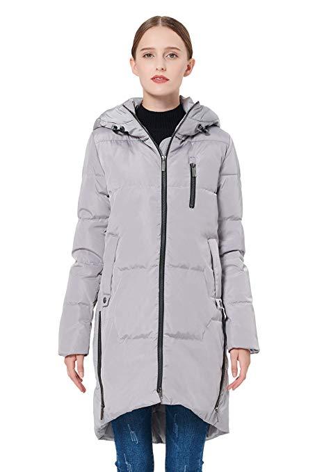 9b4603ddbc90 Orolay Women s Stylish Down Coat Winter Jacket with Hood - Cherry ...